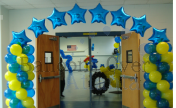 Real Star Balloon Arch